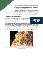 5 Tác Dụng Phụ Có Thể Gặp Nếu Ăn Nhiều Thực Phẩm Đông Lạnh