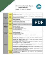 AGENDA Del 3 Al 12 de Julio de 2015