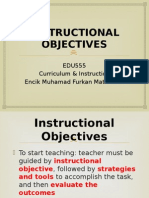 edu555 week 8 instructional objectives