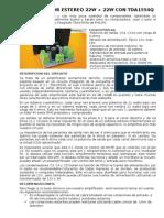 Hoja Informativa de Amp. TDA1554Q