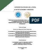 Proyecto de inversión para la producción y comercialización de una bebida energizante natural elaborada en base a pitahaya