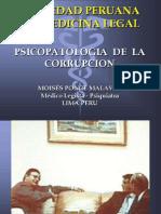 Psicopatología de la Corrupción