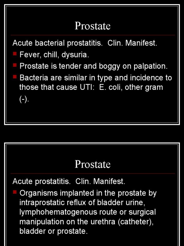 dysuria acute bacterial prostatitis