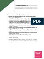 GCFE Management Development Programme Outline
