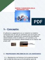 Pegamentos y Adhesivos en La Ingeniería Civil