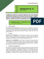 No. 16 Comunicado 07 de Mayo de 2014 (1)