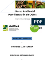 Monitoreo Ambiental Post-liberación de OGMS