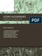 LOSAS ALIGERADAS Concepto y Metrado