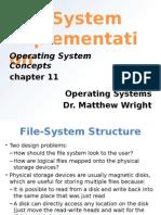 file system implementation ppt