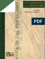 Etica Profesional de Los Profesores - Martinez Navarro Emilio