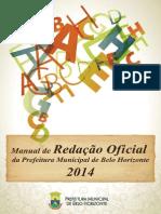 Manual de Redação 0ficial Pbh - 2014