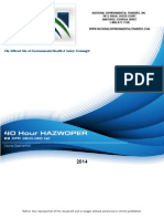 Hazwoper40 Study Guide
