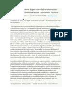 Luis Antonio Bigott Sobre La Transformación Universitaria