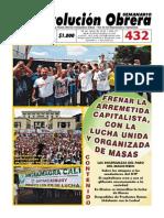 Semanario Revolución Obrera Edición No. 432