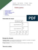 Cinética Quimica Geral