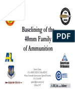 Baselining of the 40mm Family of Ammunition DTIC