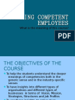 Competent Employees Introduction
