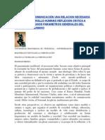 Educacion y Comunicación Una Relacion Necesaria Para El Desarrollo Humano Reflexion Critica a Partir de Al Gunos Parametros Generales Del Desarr0llo Humano
