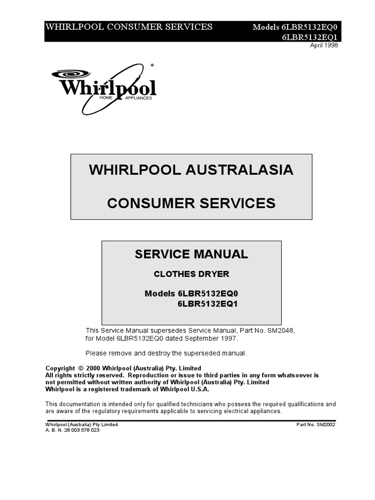 Whirpool 6lbr5132eq Manual Serviciopdf Washing Machine Wiring Harness Clip 90016 Electrical Connector