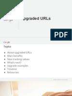 Information - Upgraded URLs Google