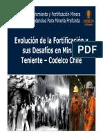 Evolución Fortificación Mina El Teniente, Chile