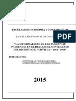TESIS LA INFORMALIDAD Y SU INCIDENCIA EN EL DESARROLLO INTEGRADO DE LAS PYMES