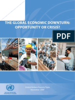 Global Economic Downturn-Opportunity or Crisis?
