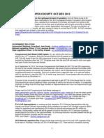 CAP Quarterly News - Oct 2012