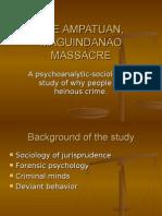 The Ampatuan, Maguindanao Massacre