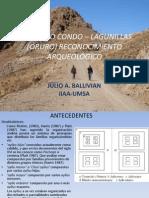 Diagnóstico Arqueológico del Camino Prehispánico Condo Lagunillas en el Departamento de Oruro - Bolivia