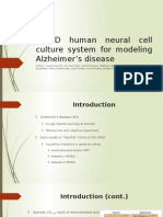A 3D Human Neural Cell Culture System For