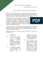 Artículo Científico de La Educación Intercultura