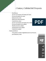 Gestión de Costes y Calidad Del Proyecto