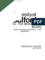 The Bending of Beams Report