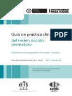 Guia Prematuro Colombia 2013
