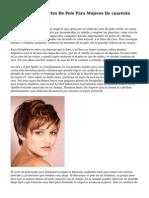 Los 10 Mejores Cortes De Pelo Para Mujeres De cuarenta Anos