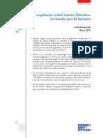 Legislación Sobre Cambio Climático Un Desafío Para El Salvador - Aguilar 2015 [Perspectivas FES]