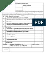 Escala Estimativa Para La Evaluación de Exposiciones Orales