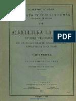 [1913] Tudor Pamfile (1883-1923) - Agricultura La Români - Studiu Etnografic