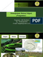 Manajemen Sistem Irigasi