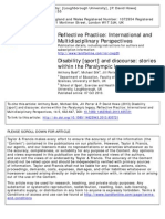 Bush, A. Et Al (2013) Disability [Sport] and Discourse -Stories Within the Paralympic Legacy