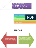 Penatalaksanaan Hiperglikemia Pada Stroke Akut