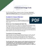 Instructional Design Tools