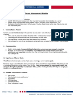 ML0001-Career Management Handout 3