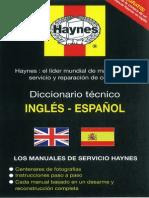 Diccionario Tecnico Ingles Español