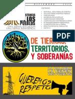 B 13 - Queremos Respeto, sobre tierras, territorios y soberanías
