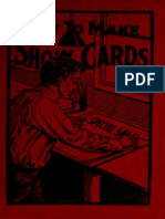 How to make show cards