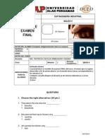 F-modelo de Examen Final Inglés V