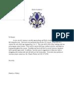 Étoile Academy Letter