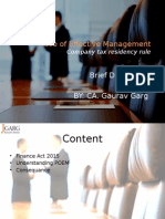 Place of Effective Management - Finance Act 2015